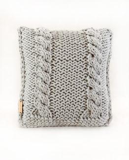 poduszka ze sznurka bawełnianego - wzór warkocze