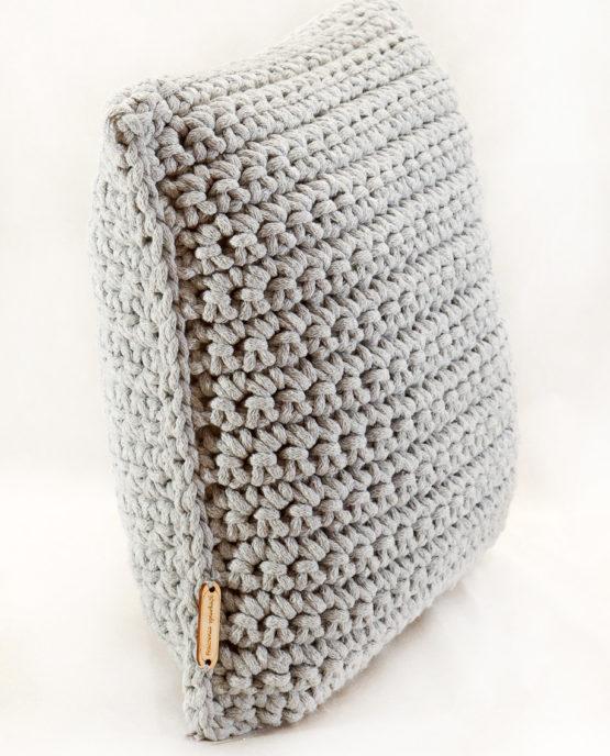 poduszka dekoracyjna hand made sznurek bawełniany