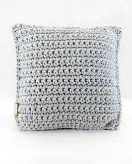 dekoracyjna poduszka ze sznurka bawełnianego hand made