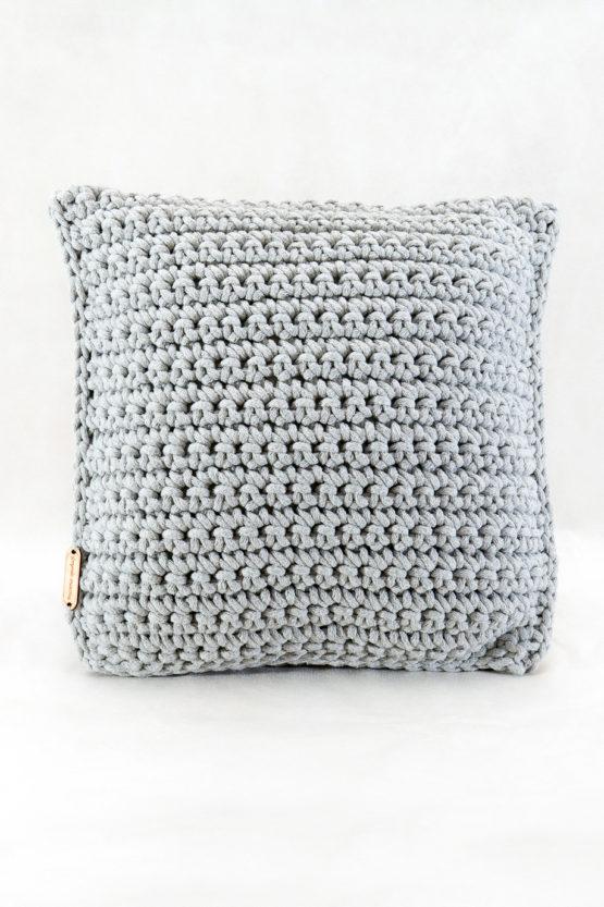 poduszka dekoracyjna ze sznurka bawełnianego hand made