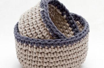 sznurek bawełniany koszyczki hand made