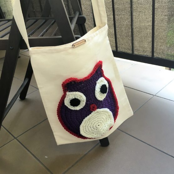 torba bawełniana ekologiczna aplikacja wełniana ręcznie robiona