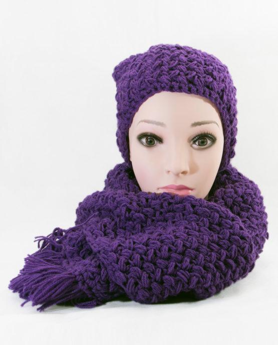 handmade szalik czapka szydełko ręcznie robione włóczka akrylowa unikany komplet
