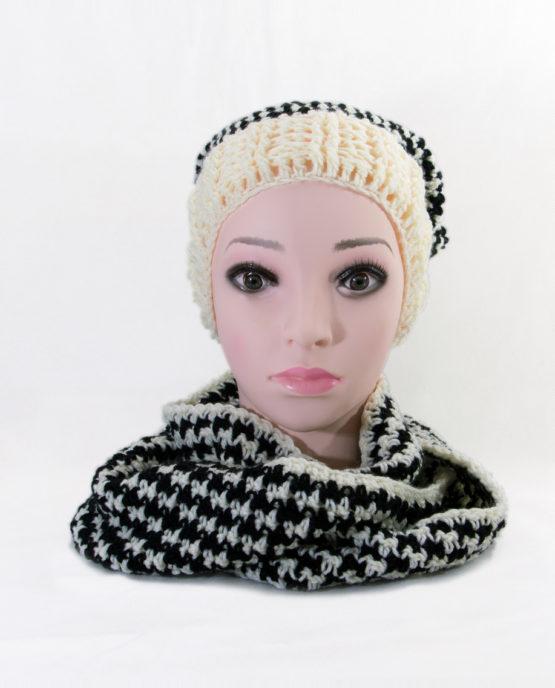 na szydełku czapka szalik hand made ręcznie robione