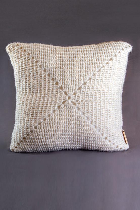 poduszka dekoracyjna włóczka akrylowa