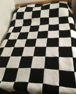 narzuta handmade szachownica